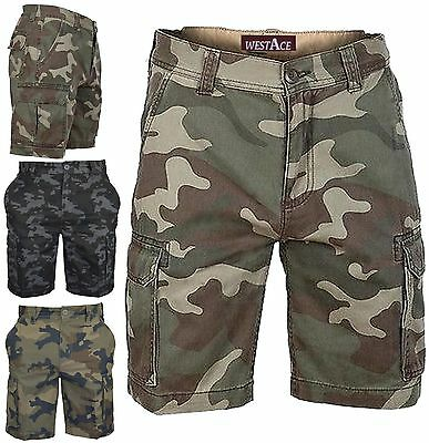£11.99 • Buy Mens Army Casual Work Cargo Combat Camouflage Shorts Cotton Chino Half Pant Camo