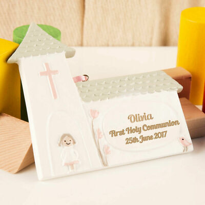 Personalised Church First Holy Communion Keepsake Gift For A Girl. Engraved Idea • 9.99£