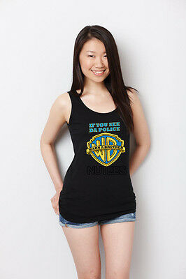 If You See Da Police Warn A Brother Hip Hop Lady Tank Top Vest S-XXL • 10.01£