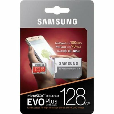 $21.99 • Buy SAMSUNG EVO Plus 128GB MicroSD Micro SDXC C10 Flash Memory Card W/ SD Adapter