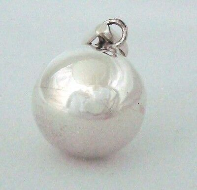 18mm 925 Sterling Silver Bola Harmony Ball Bell Charm Mexican Bola Pendant Hm09 • 28.07£