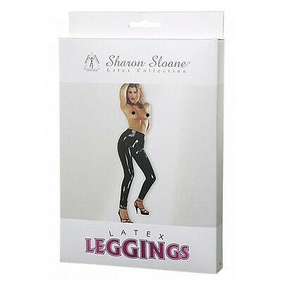 Sharon Sloane  Latex Leggings Black Shiny Wet Look Sexy Shiney Rubber Stretch  • 24.99£