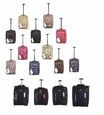 Hand Luggage Wheeled Holdall Cabin Travel Weekend Suitcase Owl Butterfly Bag • 19.70£