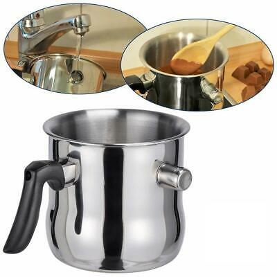 1.2 L Milk Chocolate Melting Whistling Pot Pan Double Walled Stainless Steel • 11.69£