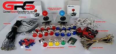 $99.99 • Buy Arcade Sanwa Control Panel LED Illuminated Kit 2 Joysticks, 20 Buttons USB MAME