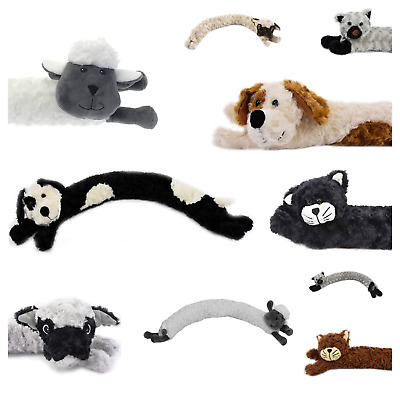 Novelty Draught Excluder Dog Cat Design Fabric Fleece Draft Door Stopper Cushion • 6.99£