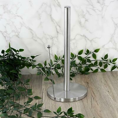 Freestanding Stainless Steel Kitchen Roll Holder Paper Towel Metal Pole Stand • 7.99£