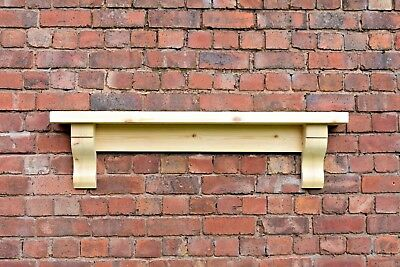 Chunky Solid Pine Mantle /  Pine Mantel Shelf With Corbels / Plus Made Measure • 85£
