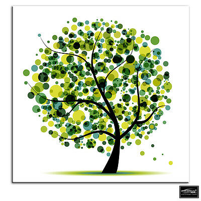 £14.99 • Buy Abstract Tree   Illustration BOX FRAMED CANVAS ART Picture HDR 280gsm