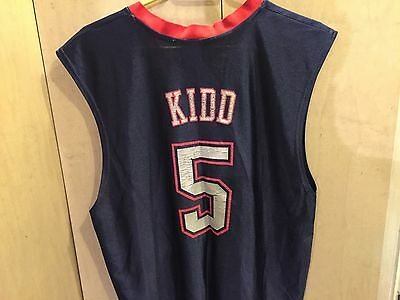 $ CDN19 • Buy Vintage Jason Kidd NEW JERSEY  NETS NBA Brand Jersey SZ L