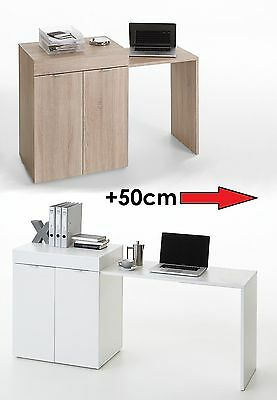 Stretch-2  Expanding PC Desk, Laptop Table With Cabinet Cupboard • 149£