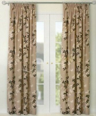 £29.99 • Buy  B&Q ISOBEL TAUPE MIX( COFFEE BEIGE BROWN)  LINED CURTAINS  66  X 90   3  TAPE