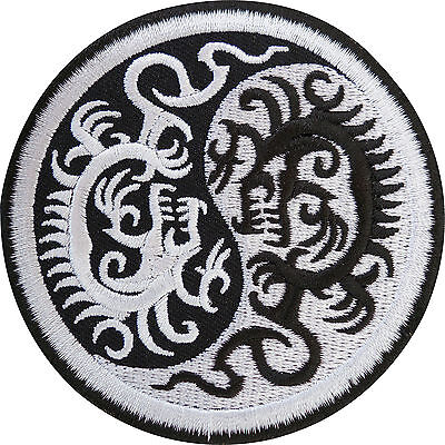 £2.79 • Buy Yin And Yang Chinese Dragon Embroidered Iron / Sew On Patch T Shirt Jacket Badge