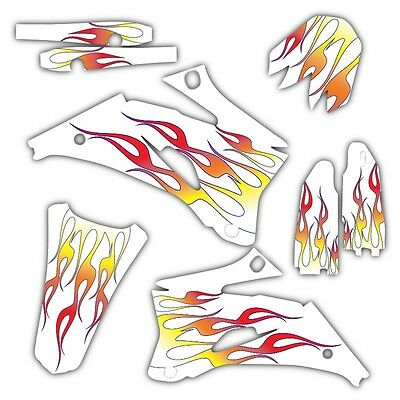 $99.99 • Buy 2002 2003 2004  Crf450r Graphics Kit Honda Crf 450 R  White Flames Decals