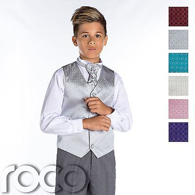 £19.99 • Buy Boys Waistcoat Suit, Boys Wedding Suits, Page Boy Suits, Grey Trousers