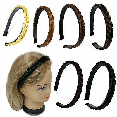 $4.99 • Buy 0.5  Synthetic Hair Headband Braided Plaited Plait Band Hairband  Women Girl