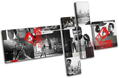 £54.99 • Buy Ali Boxing Gloves  Iconic Celebrities CANVAS WALL ART Picture Print VA