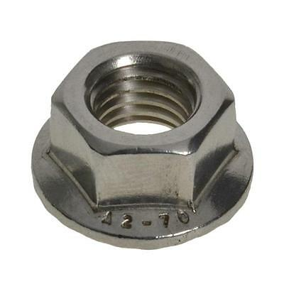 AU12 • Buy Qty 20 Hex Serrated Flange Nut M8 (8mm) Stainless Steel SS 304 A2 70