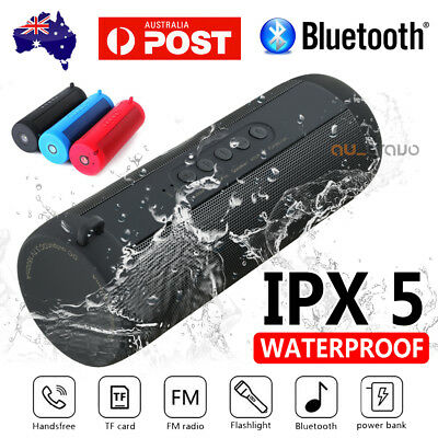 AU30.99 • Buy Portable Wireless Bluetooth Stereo Music Waterproof Speaker For IPhone Samsung