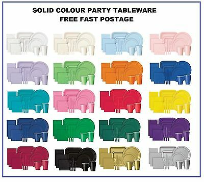 £3.39 • Buy Plain Disposable Party TABLEWARE BBQ Events Catering Wedding Birthday Christmas