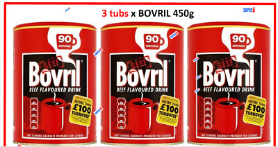 £28.99 • Buy 3 X Bovril Beef Flavoured Drink 450g    Granules   Catering Size Tub