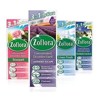 Zoflora 3 In 1 Action Assorted Fragrances | 1 X 120ml Scent Dependent • 3.99£