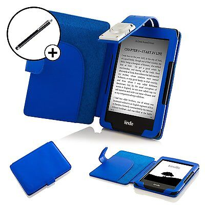 Forefront Cases® Blue Smart Case Cover Light Amazon Kindle 7th Gen 2014 Stylus • 10.49£