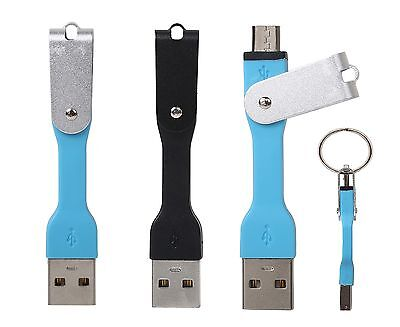 New Design Short Silicon Keyring USB A To Micro Cable Charger Data Sync Adapter • 3.40£