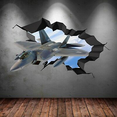 $33.35 • Buy Wall Art Sticker Army Fighter Jet Plane 3D Self Adhesive Decal Graphic WSD681