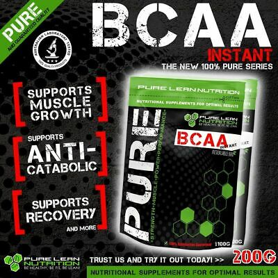 AU22.95 • Buy Bcaa Powder 200g Instantised Unflavoured Branch Chain Amino Acids Intra Workout