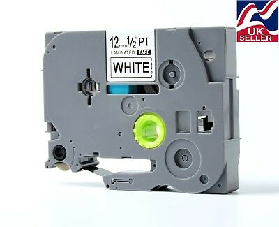 12mm TZE 231,TZ 231 Tape Black/white For Use With BROTHER P-TOUCH Label Printer • 3.95£