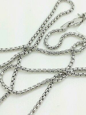 $270.25 • Buy 14k White Gold Round Box Link Necklace Pendant Chain 20  1.7mm