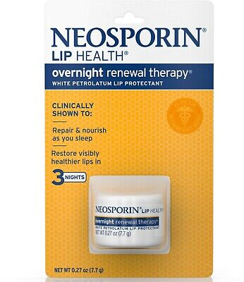 Neosporin Lip Health Overnight Renewal Therapy 0.27 Oz (Pack Of 3) • 11.66£