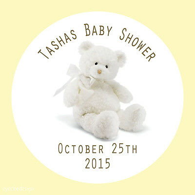 £1.65 • Buy Personalised Teddy Bear Christening Baptism Party Bag Stickers Favours -599