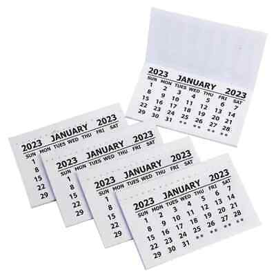 £4.99 • Buy 40 X 2021 Calendar Tabs / Insert White Mini Calender Tear Off Pads Month To View