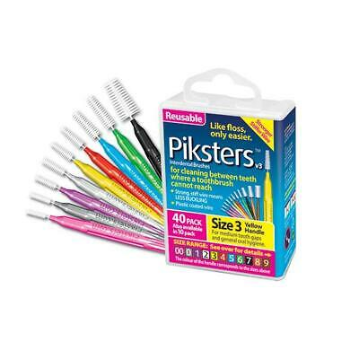 AU22.95 • Buy Piksters - Interdental Brushes Large 40 Pack All Sizes Available Choose Colour