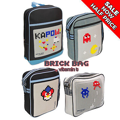 £7.95 • Buy BRICK BAG -  Messenger Bag With Pixel Bricks Supplied - Compatible With Lego