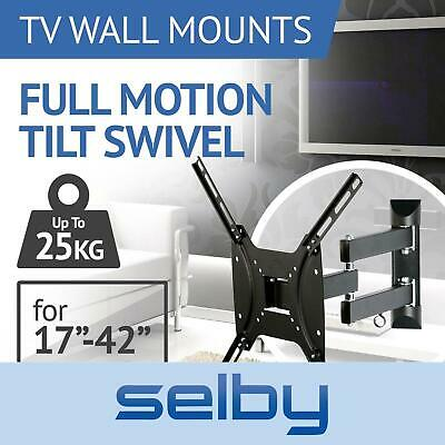 AU32 • Buy TV Wall Mount Bracket Swivel Full Motion Tilt VESA 24 32 37 40 42 Inch Selby