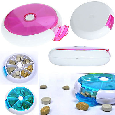 7 Day Travel Pill Box Medicine Tablet Storage Vitamin Dispenser Organiser Holder • 2.99£