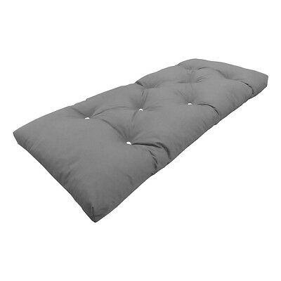 £59.99 • Buy MyLayabout Crumb Futon Mattress | Roll Out Guest Bed | Grey |190cm X 75cm