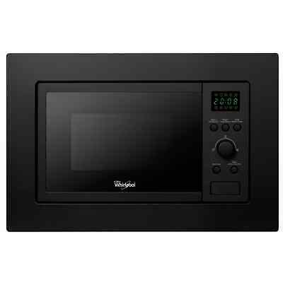 WHIRLPOOL AMW 140/NB Built-In Black Kitchen Microwave & Grill, 20L, 800-1000 W • 224.98£