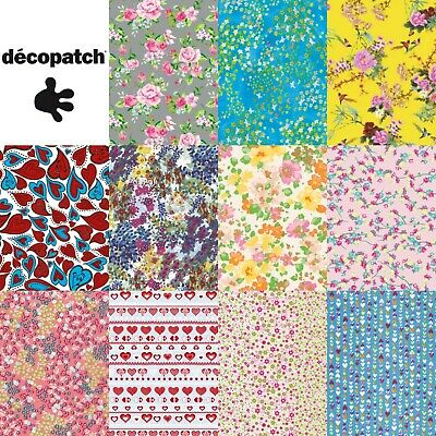 Decopatch Decoupage Paper Floral Flowers Heart Hearts Rose Roses Daisy Papers • 0.99£