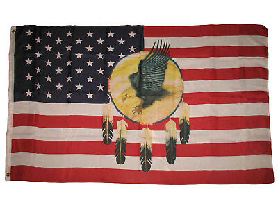 $7.27 • Buy Dreamcatcher Eagle US Flag 3x5 USA United States America Native American Indian