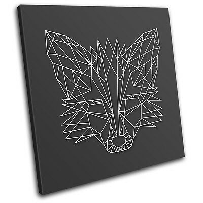Fennec Fox Abstract Animals SINGLE CANVAS WALL ART Picture Print • 19.99£