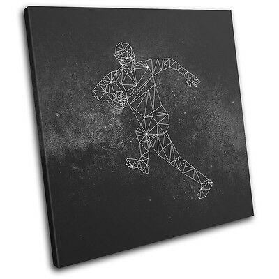 £49.99 • Buy Geometric Asbtract Rugby Sports SINGLE CANVAS WALL ART Picture Print
