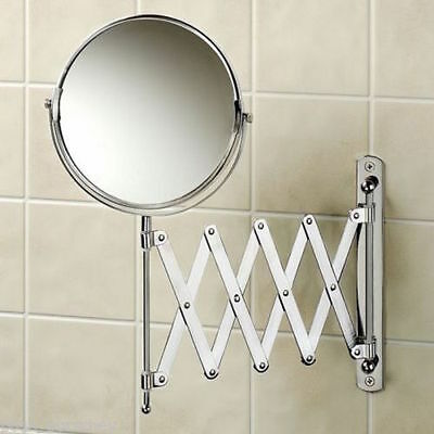 £15.97 • Buy Magnifying Wall Mounted Extending Shaving Cosmetic Make Up Swivel Mirror