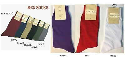 $4.99 • Buy Men's High Quality Solid Color Dress Socks One Size 10~13