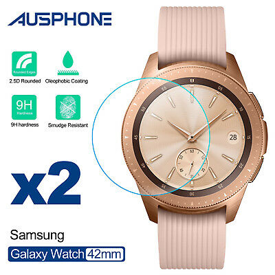 AU5.45 • Buy 2 Pack Tempered Glass Screen Protector Film For Samsung Galaxy Watch 42mm