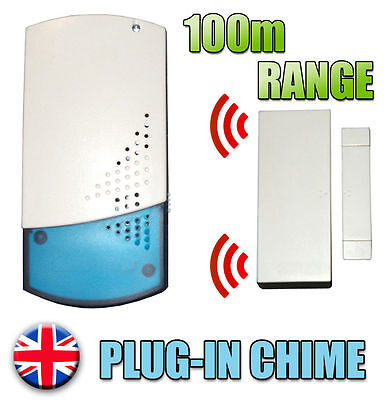 £29.99 • Buy A4B WIRELESS SHOP VISITOR BELL Door ENTRY Magnet Contact Alert CHIME ALARM 100M
