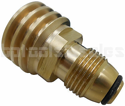 $12 • Buy Converts Propane LP TANK POL Service Valve To QCC (Type 1) Outlet Brass Adapter